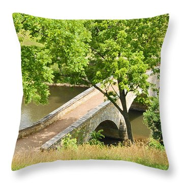 Antietam's Burnside Bridge Throw Pillow by Cindy Manero