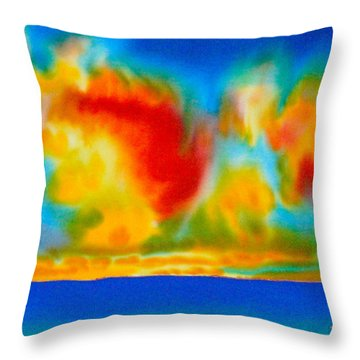 Antigua Throw Pillow by Daniel Jean-Baptiste