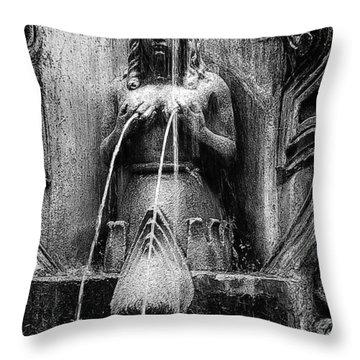 Antigua Mermaid Throw Pillow by Tom Bell