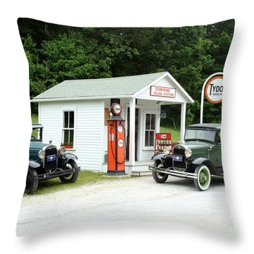 Antique Cars Throw Pillow by Ted Kinsman