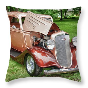 Antique Chevy  7757 Throw Pillow by Guy Whiteley
