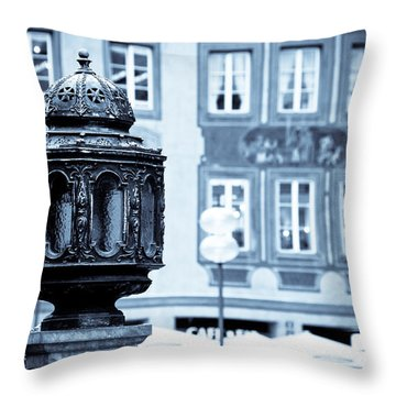 Antique Design Throw Pillow by Syed Aqueel