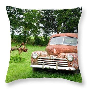 Antique Ford Car 6 Throw Pillow by Douglas Barnett