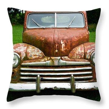 Antique Ford Car 8 Throw Pillow by Douglas Barnett