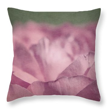 Antique Pink Throw Pillow by Aimelle