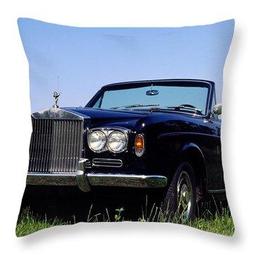 Antique Rolls Royce Throw Pillow