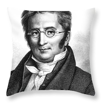 A.p. De Candolle, Swiss Botanist Throw Pillow by Science Source