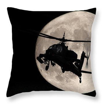 Apache In The Moonlight Throw Pillow