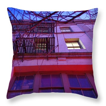 Throw Pillow featuring the photograph Apartment Building by Marilyn Wilson