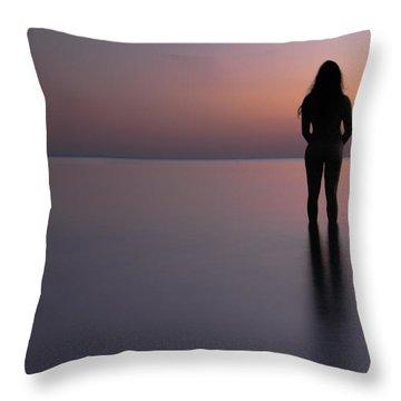 Aphrodite Throw Pillow by Stelios Kleanthous