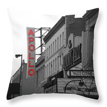 Apollo Theater In Harlem New York No.1 Throw Pillow by Ms Judi