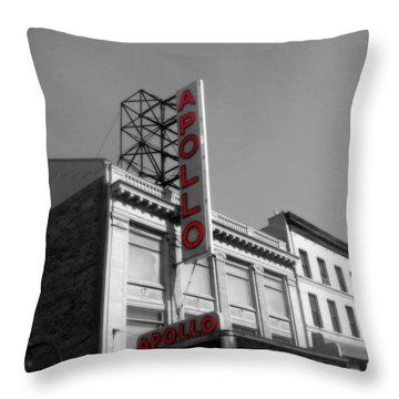 Apollo Theater In Harlem New York No.2 Throw Pillow by Ms Judi