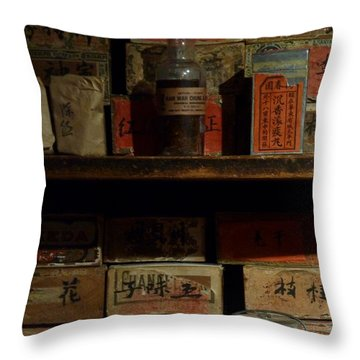 Throw Pillow featuring the photograph Apothecary by Newel Hunter
