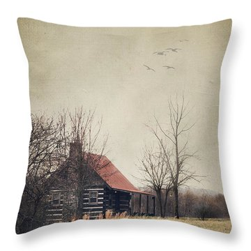 Appalachian Cabin Throw Pillow