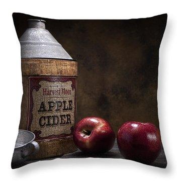Apple Cider Still Life Throw Pillow by Tom Mc Nemar