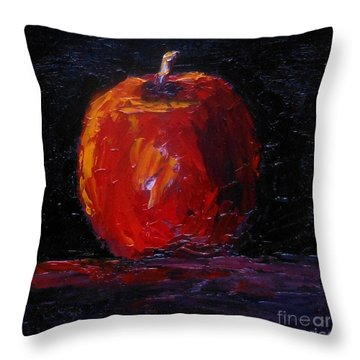 Throw Pillow featuring the painting Apple by Fred Wilson