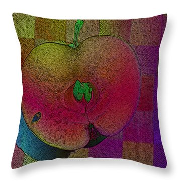 Throw Pillow featuring the photograph Apple Of My Eye by David Pantuso