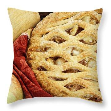 Apple Pie Throw Pillow by Stephanie Frey
