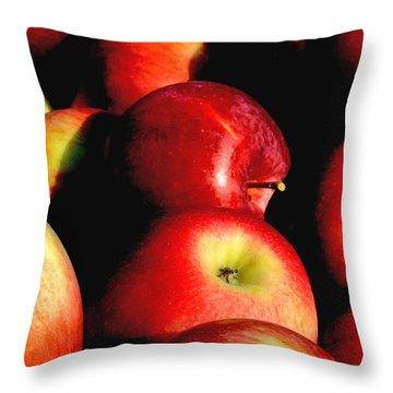 Apple Time Throw Pillow by Joann Vitali