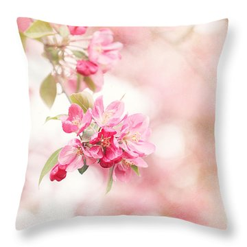 Apple Tree In Spring Throw Pillow