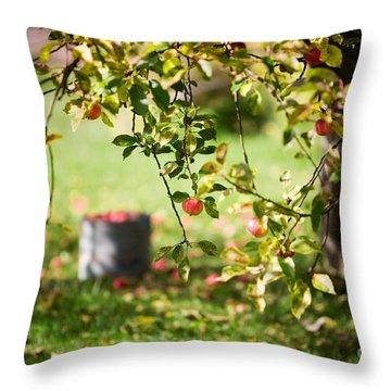 Apple Tree Throw Pillow by Kati Molin