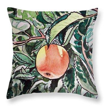 Apple Tree Sketchbook Project Down My Street Throw Pillow by Irina Sztukowski
