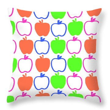 Apples Throw Pillow by Louisa Knight
