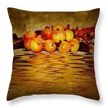 Apples Throw Pillow by Svetlana Sewell