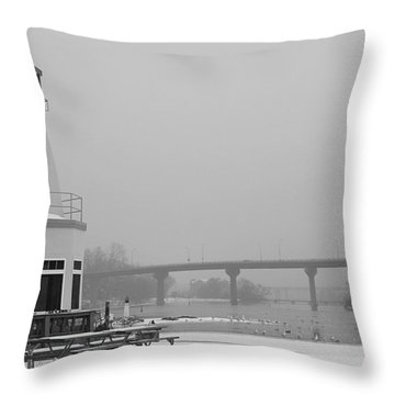 Appleton Yacht Club Throw Pillow by Joel Witmeyer