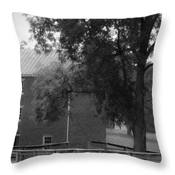 Appomatttox County Jail Virginia Throw Pillow by Teresa Mucha