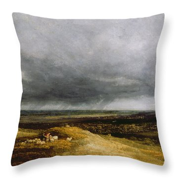 Approaching Storm Throw Pillow by Georges Michael