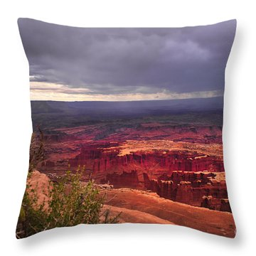Approaching Storm  Throw Pillow by Robert Bales