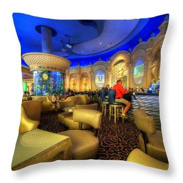 Aqua Bar Throw Pillow by Yhun Suarez
