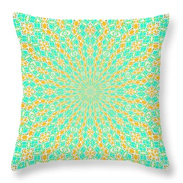 Aqua Soleil Throw Pillow