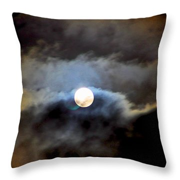 Aquarius Full Moon Throw Pillow