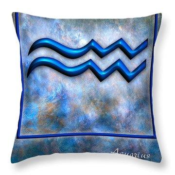 Aquarius  Throw Pillow by Mauro Celotti