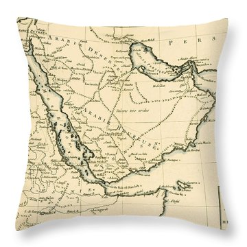 Arabia Throw Pillow by Guillaume Raynal