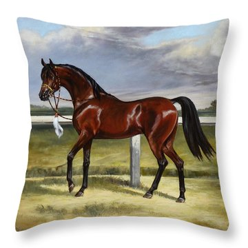 Arabian Horse Throw Pillow
