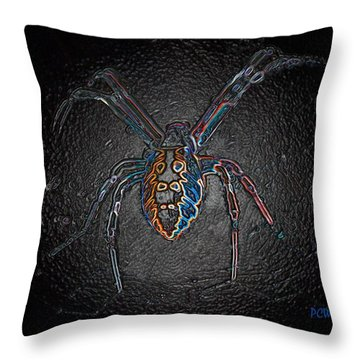 Throw Pillow featuring the photograph Arachnophobia by Patrick Witz