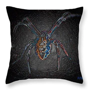 Arachnophobia Throw Pillow by Patrick Witz