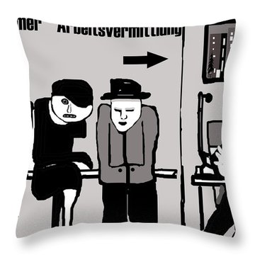Arbeitsvermittlung Throw Pillow
