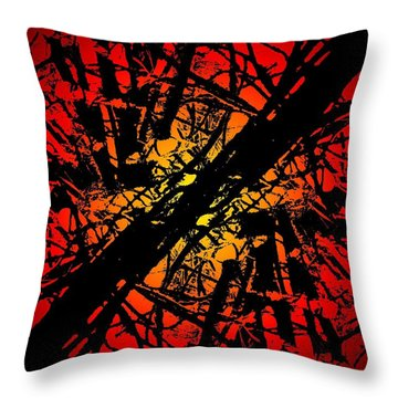 Arbor Sun Throw Pillow by Tim Allen