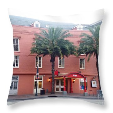 Throw Pillow featuring the photograph Arby's At Dawn by Alys Caviness-Gober