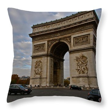 Throw Pillow featuring the photograph Arc De Triomphe by Eric Tressler