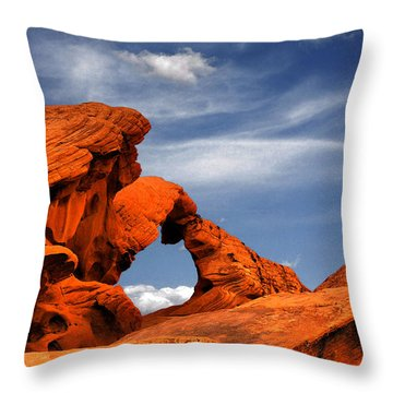 Arch Rock - Amazing Show Of Nature Throw Pillow by Christine Till