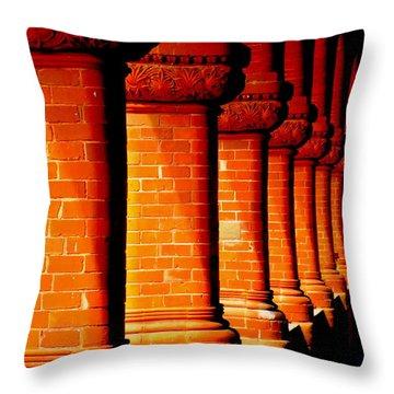 Archaic Columns Throw Pillow by Karen Wiles