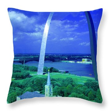 Arched Throw Pillow by Jen Sparks