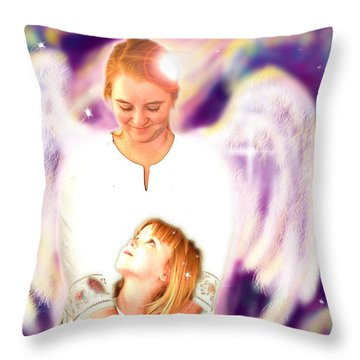 Archer. Angelic 4 Throw Pillow