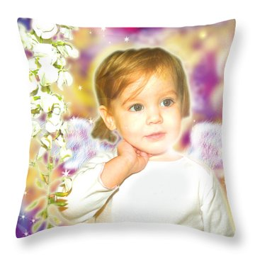 Archer.angelic 3 Throw Pillow