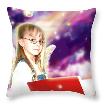 Archer.angelic Throw Pillow